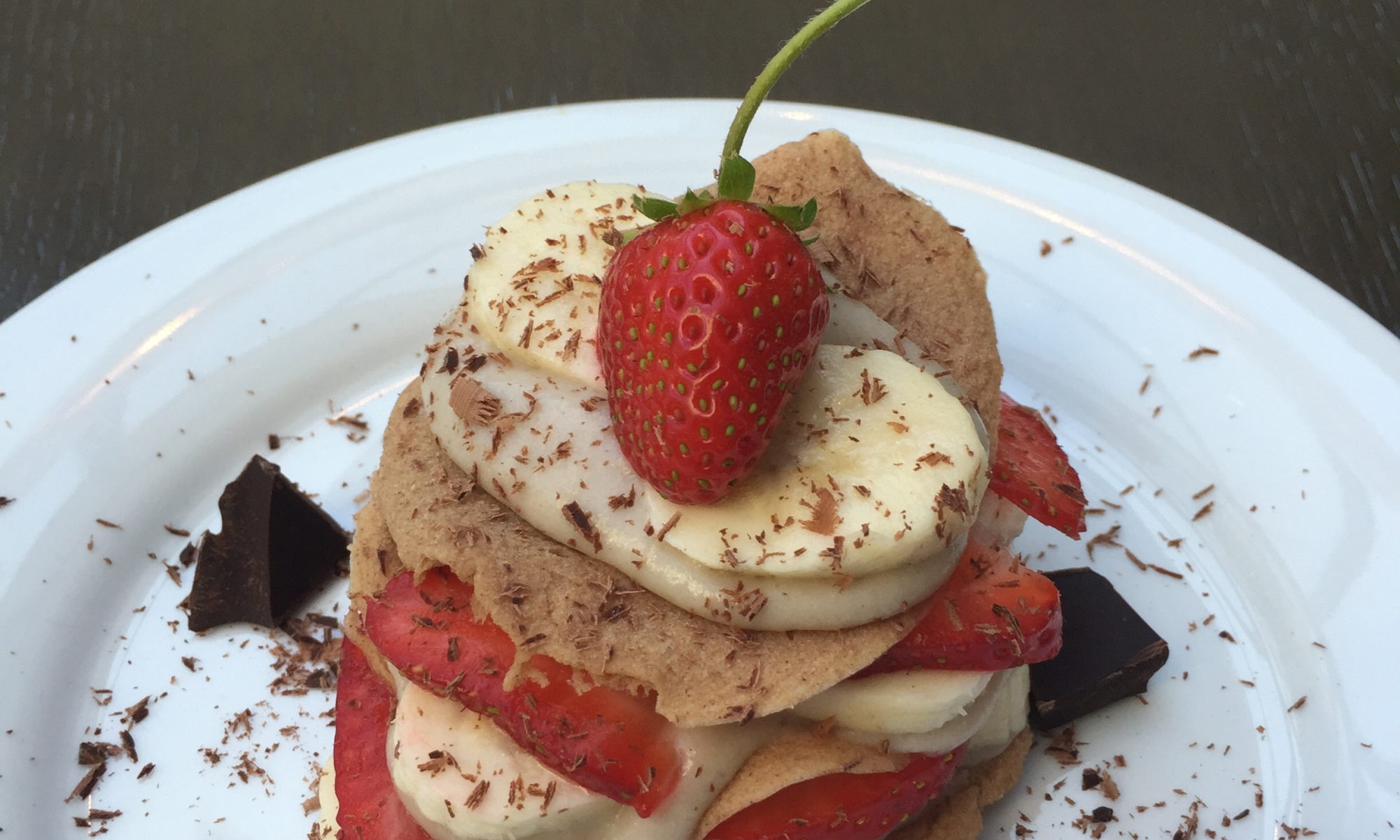 Strawberry Coconut Banana Napoleon