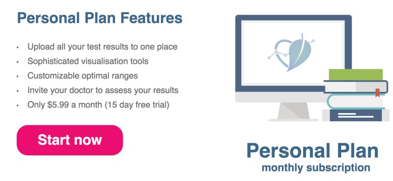 healthmatters.io personal plan signup banner