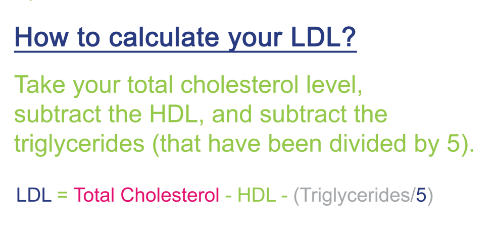 ldl hdl cholesterol triglycerides
