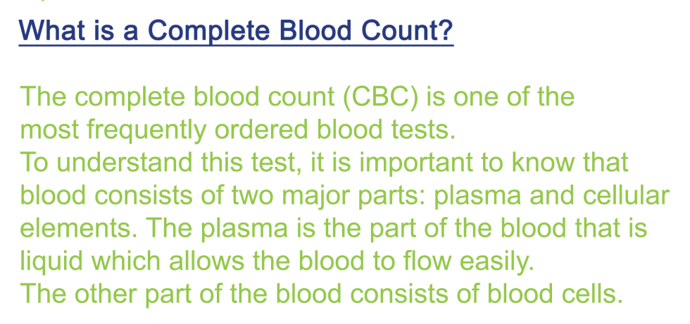 complete blood count normal ranges chart definition interpretation with differential wbc rbc mcv mch