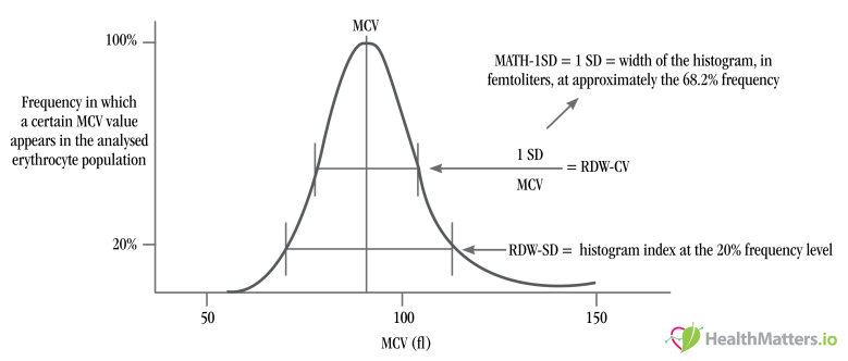 red cell distribution width rdw-cv rdw-sd high low meaning