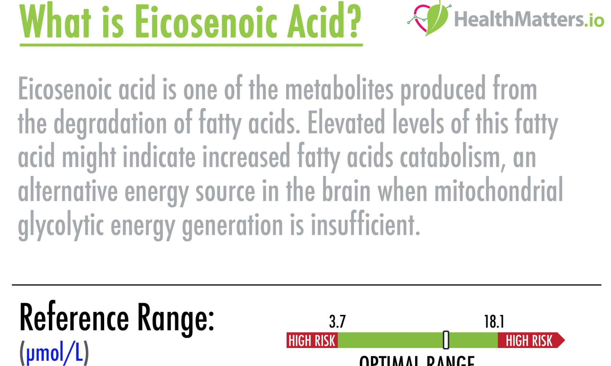 eicosenoic acid high low
