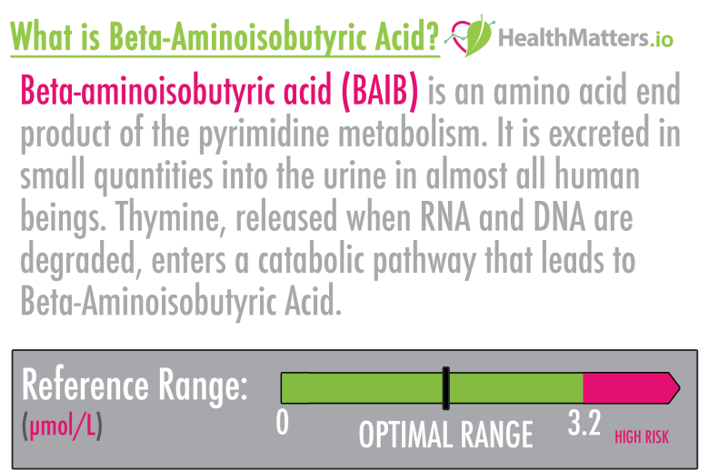 What is Beta-Aminoisobutyric Acid? High low meaning treatment symptoms disease risk interpretation genova urine test