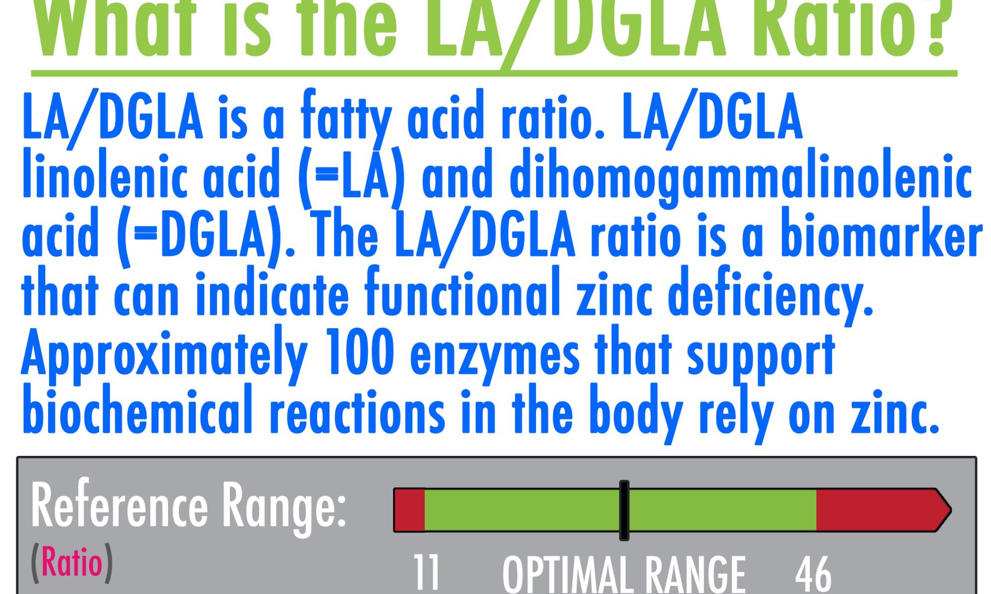 La DGLA ratio high low meaning treatment zinc deficiency genova healthmatters.io