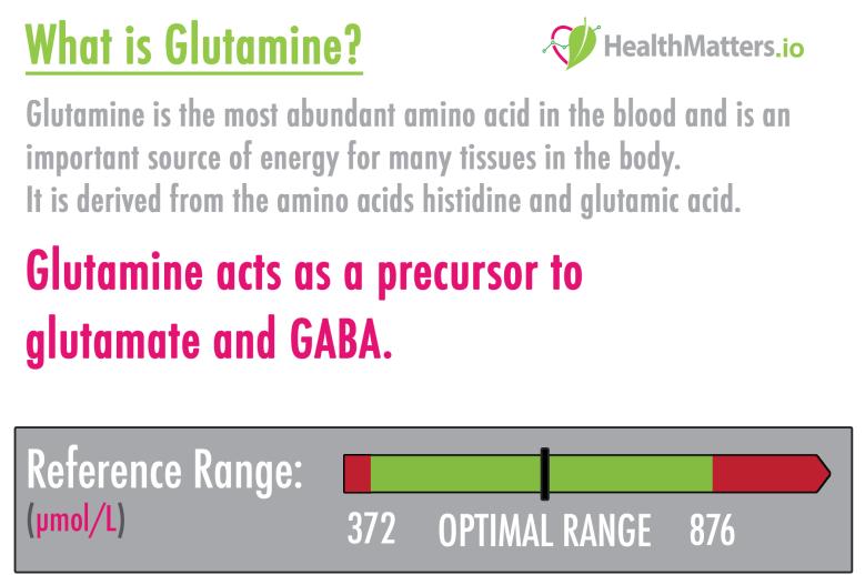 what is glutamine high low meaning glutamate glutamic acid GABA genova Neurotransmitters interpretive interpretation lab results urine