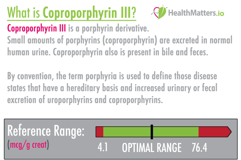 Coproporphyrin III high meaning treatment values symptoms levels