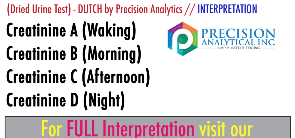 creatinine waking morning afternoon night precision analytics dried urine